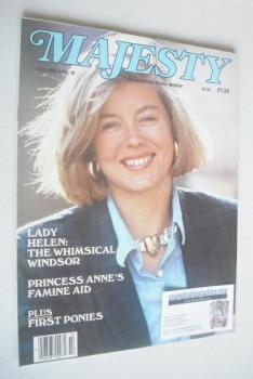 Majesty magazine - Lady Helen Taylor cover (February 1986 - Volume 6 No 10)