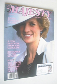 Majesty magazine - Princess Diana cover (March 1986 - Volume 6 No 11)