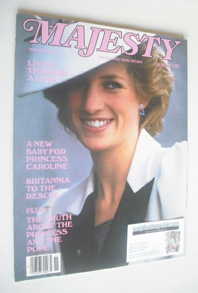 <!--1986-03-->Majesty magazine - Princess Diana cover (March 1986 - Volume