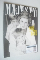 <!--1990-05-->Majesty magazine - Princess Diana and boys cover (May 1990 - Volume 11 No 5)