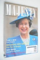 <!--1990-06-->Majesty magazine - Queen Elizabeth II cover (June 1990 - Volume 11 No 6)