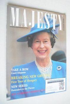 Majesty magazine - Queen Elizabeth II cover (June 1990 - Volume 11 No 6)