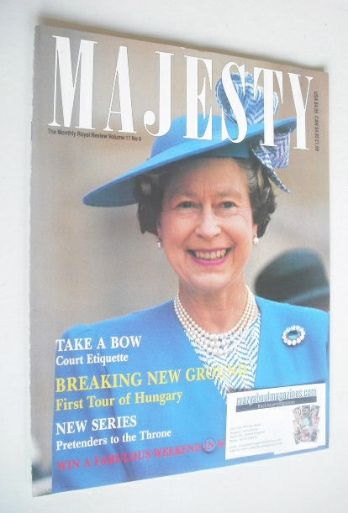<!--1990-06-->Majesty magazine - Queen Elizabeth II cover (June 1990 - Volu