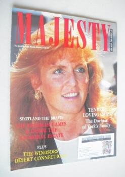 Majesty magazine - Sarah Ferguson cover (October 1990 - Volume 11 No 10)