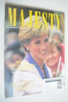 <!--1990-11-->Majesty magazine - Princess Diana cover (November 1990 - Volume 11 No 11)