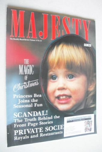 <!--1990-12-->Majesty magazine - Princess Beatrice cover (December 1990 - V