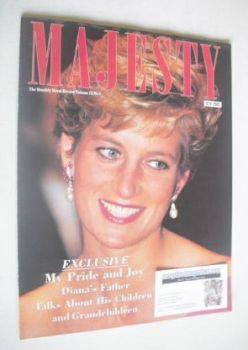 Majesty magazine - Princess Diana cover (January 1991 - Volume 12 No 1)