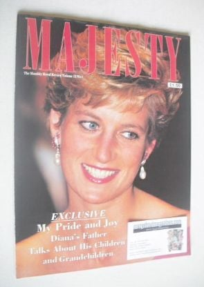 <!--1991-01-->Majesty magazine - Princess Diana cover (January 1991 - Volum