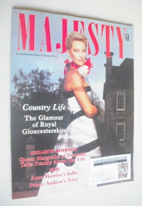 <!--1991-02-->Majesty magazine - Princess Michael Of Kent cover (February 1