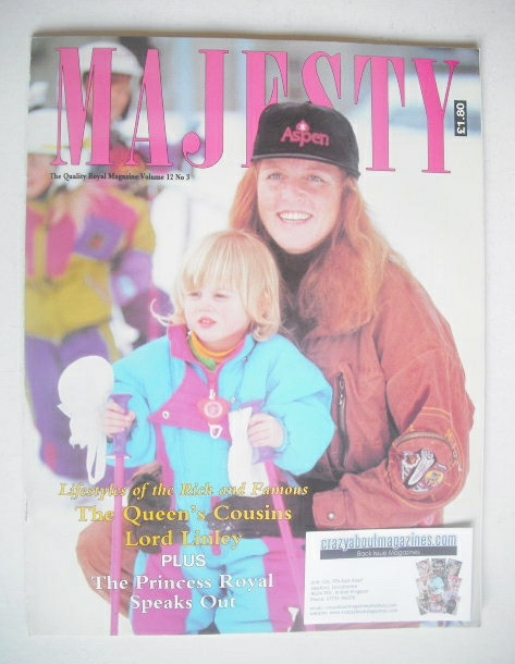 <!--1991-03-->Majesty magazine - Sarah Ferguson cover (March 1991 - Volume