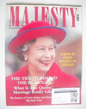 Majesty magazine - Queen Elizabeth II cover (April 1991 - Volume 12 No 4)