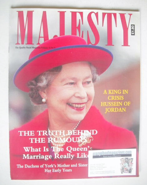 <!--1991-04-->Majesty magazine - Queen Elizabeth II cover (April 1991 - Vol