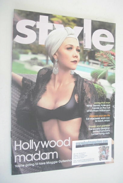<!--2007-09-02-->Style magazine - Maggie Gyllenhaal cover (2 September 2007