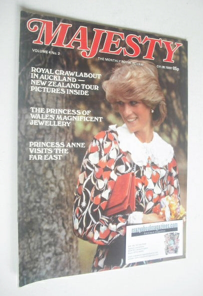 <!--1983-06-->Majesty magazine - Princess Diana cover (June 1983 - Volume 4