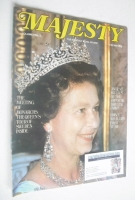 <!--1983-07-->Majesty magazine - Queen Elizabeth II cover (July 1983 - Volume 4 No 3)