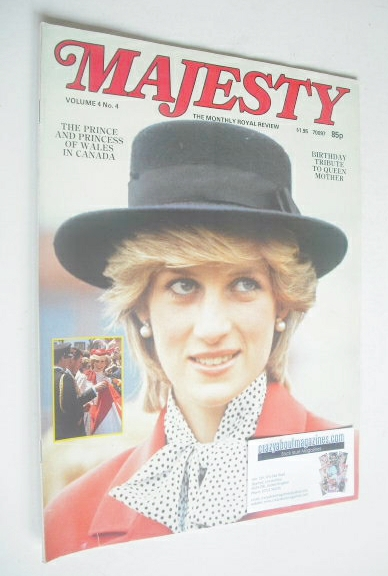<!--1983-08-->Majesty magazine - Princess Diana cover (August 1983 - Volume