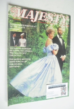 Majesty magazine - Prince and Princess Michael of Kent cover (September 1983 - Volume 4 No 5)