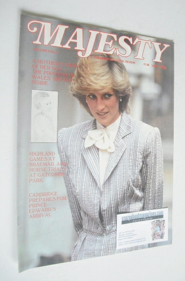 <!--1983-10-->Majesty magazine - Princess Diana cover (October 1983 - Volum
