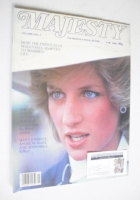 <!--1983-11-->Majesty magazine - Princess Diana cover (November 1983 - Volume 4 No 7)