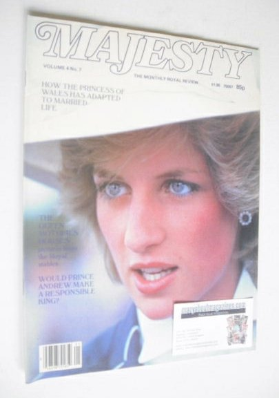 <!--1983-11-->Majesty magazine - Princess Diana cover (November 1983 - Volu