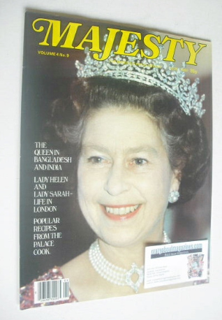 <!--1984-01-->Majesty magazine - Queen Elizabeth II cover (January 1984 - V