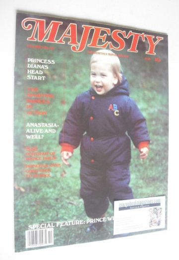 <!--1984-02-->Majesty magazine - Prince William cover (February 1984 - Volu