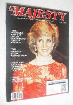 Majesty magazine - Queen Elizabeth II cover (March 1984 - Volume 4 No 11)