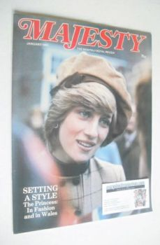 Majesty magazine - Princess Diana cover (January 1983 - Volume 3 No 9)