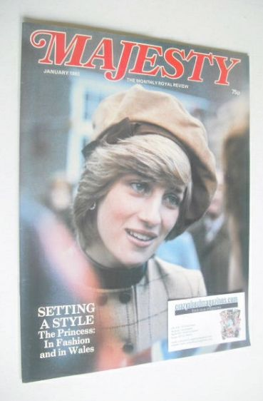 <!--1983-01-->Majesty magazine - Princess Diana cover (January 1983 - Volum