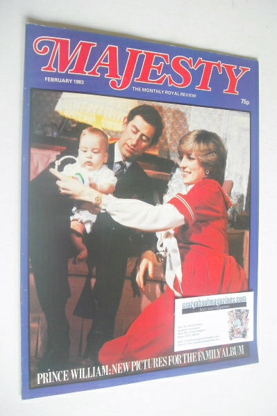 <!--1983-02-->Majesty magazine - Prince Charles, Princess Diana and Prince