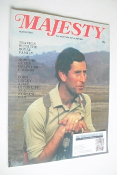 Majesty magazine - Prince Charles cover (March 1983 - Volume 3 No 11)