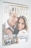 <!--2011-01-->Majesty magazine - Prince William and Kate Middleton cover (January 2011)