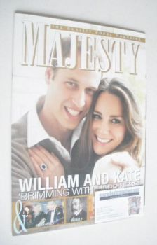 Majesty magazine - Prince William and Kate Middleton cover (January 2011)