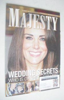 Majesty magazine - Kate Middleton cover (February 2011)