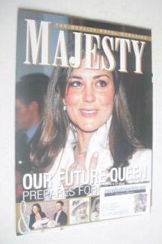 Majesty magazine - Kate Middleton cover (March 2011 - Vol 32 No 3)
