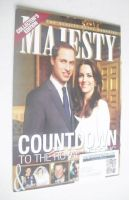 <!--2011-04-->Majesty magazine - Prince William and Kate Middleton cover (April 2011)