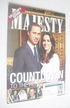 Majesty magazine - Prince William and Kate Middleton cover (April 2011)