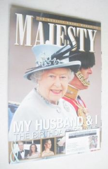 Majesty magazine - Queen Elizabeth II and Prince Philip cover (July 2011)