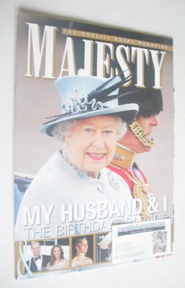 <!--2011-07-->Majesty magazine - Queen Elizabeth II and Prince Philip cover