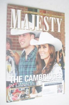Majesty magazine - Prince William and Kate Middleton cover (August 2011)