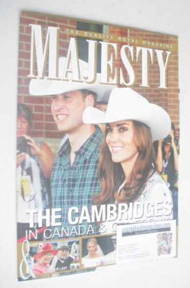 <!--2011-08-->Majesty magazine - Prince William and Kate Middleton cover (A