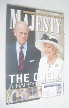 Majesty magazine - Queen Elizabeth II and Prince Philip cover (November 2011)