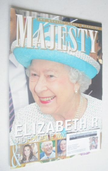 <!--2012-03-->Majesty magazine - Queen Elizabeth II cover (March 2012)