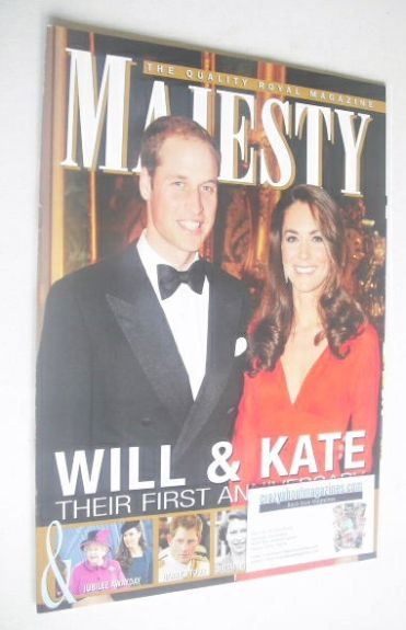 <!--2012-04-->Majesty magazine - The Duke and Duchess of Cambridge cover (A