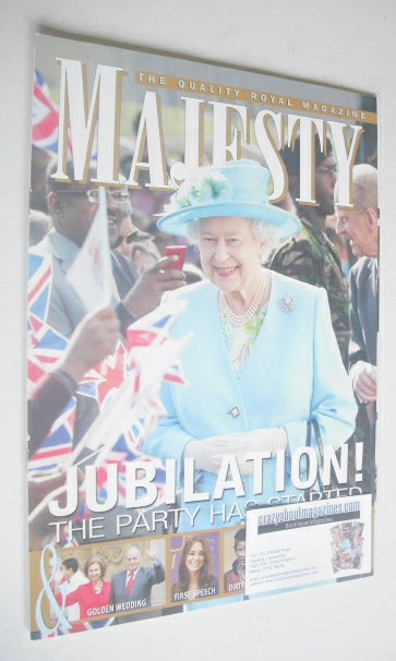 <!--2012-05-->Majesty magazine - Queen Elizabeth II cover (May 2012)
