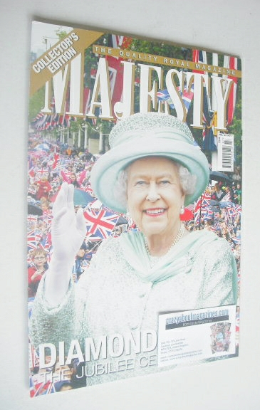 <!--2012-07-->Majesty magazine - Queen Elizabeth II cover (July 2012)