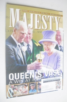 Majesty magazine - Queen Elizabeth II and Prince Philip cover (August 2012)