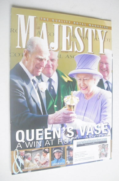 <!--2012-08-->Majesty magazine - Queen Elizabeth II and Prince Philip cover