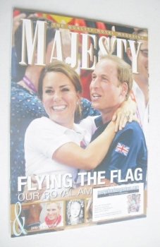 Majesty magazine - The Duke and Duchess of Cambridge cover (September 2012)