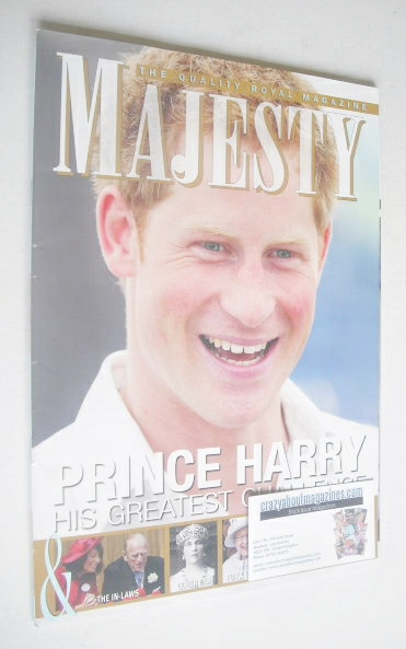 <!--2012-10-->Majesty magazine - Prince Harry cover (October 2012)